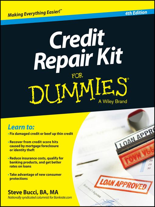 Title details for Credit Repair Kit For Dummies by Steve Bucci - Wait list