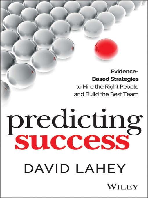 Title details for Predicting Success by David Lahey - Available