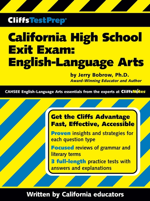 Title details for CliffsTestPrep California High School Exit Exam by Jerry Bobrow, Ph.D. - Available