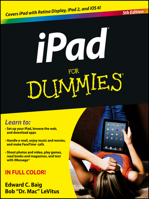 Title details for iPad For Dummies by Edward C. Baig - Wait list