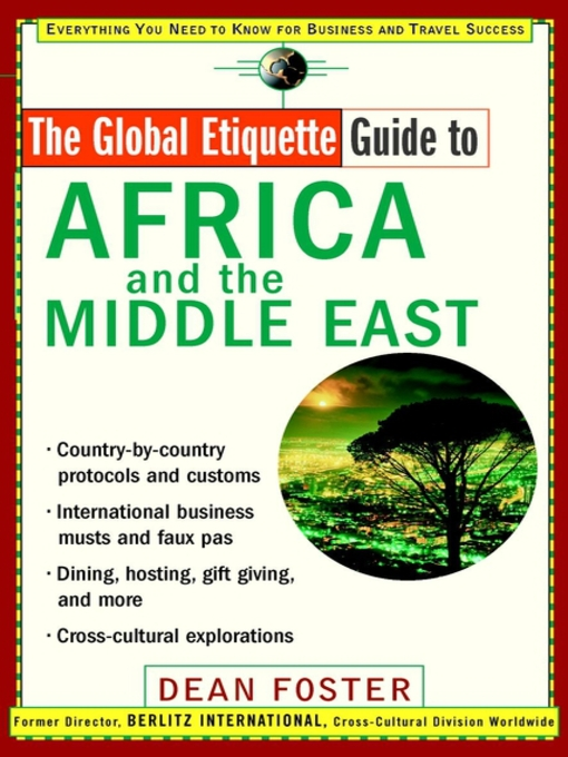 Cover of The Global Etiquette Guide to Africa and the Middle East