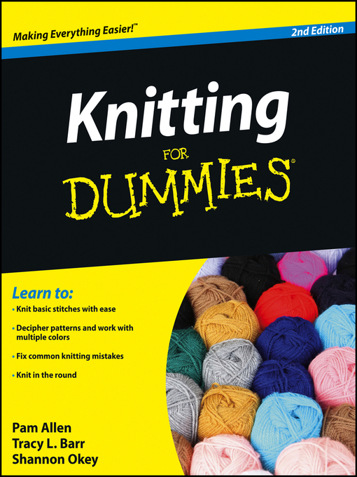 Title details for Knitting for Dummies® by Allen - Wait list