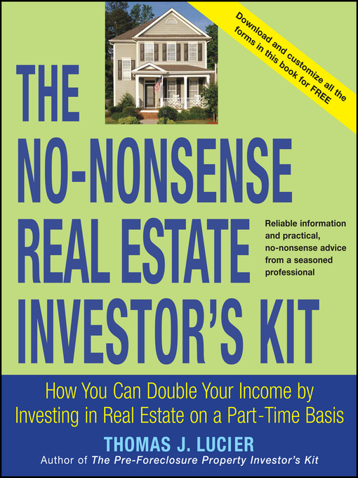 Title details for The No-Nonsense Real Estate Investor's Kit by Thomas Lucier - Available