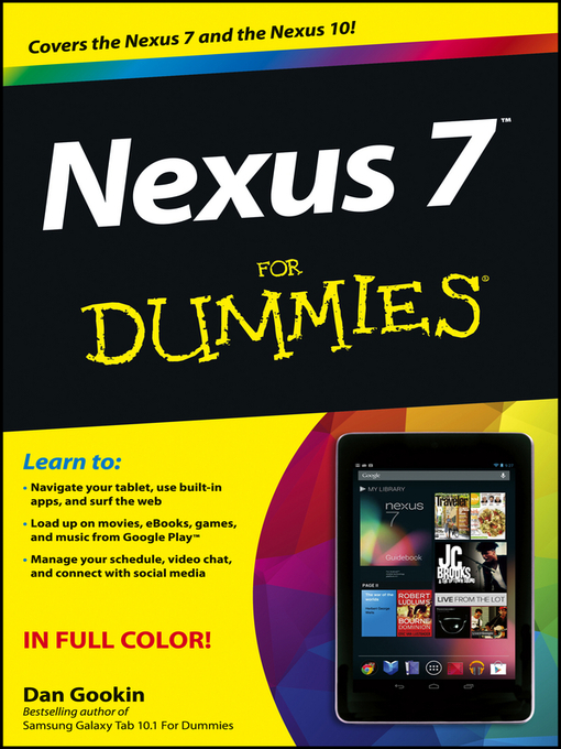 Title details for Nexus 7 For Dummies (Google Tablet) by Dan Gookin - Wait list
