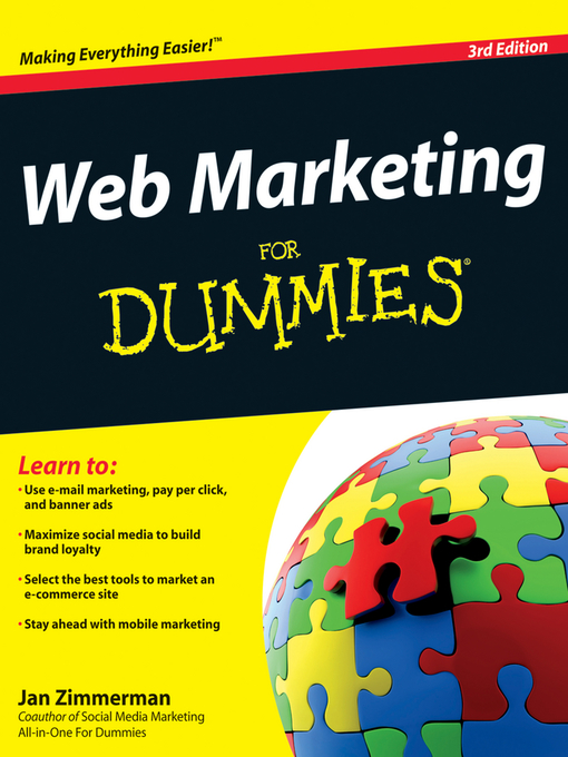 Title details for Web Marketing for Dummies by Jan Zimmerman - Available