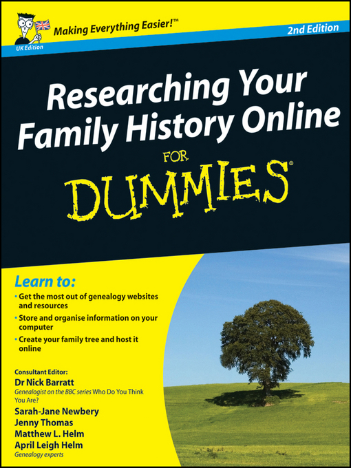 Title details for Researching Your Family History Online For Dummies by Nick Barratt - Wait list
