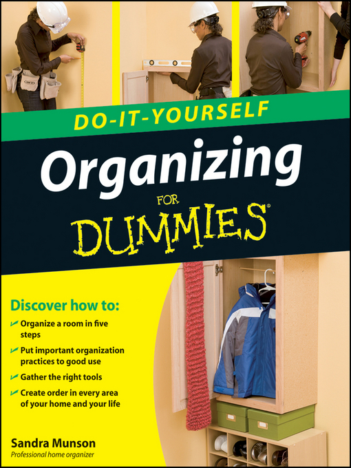 Title details for Organizing Do-It-Yourself For Dummies by Sandra Munson - Wait list