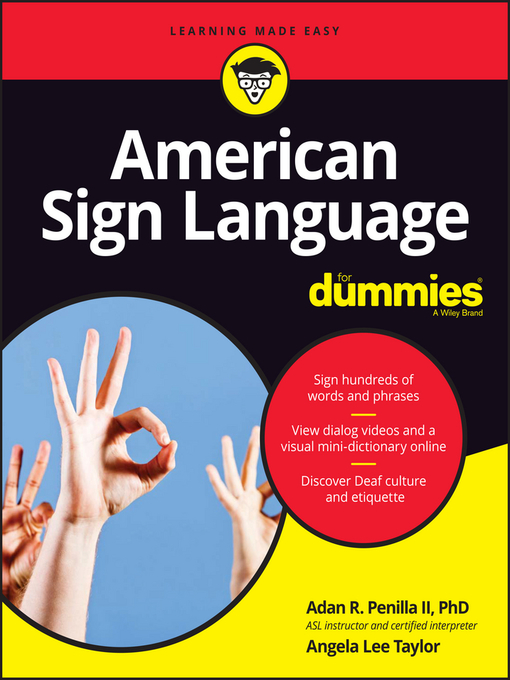 Cover of American Sign Language For Dummies