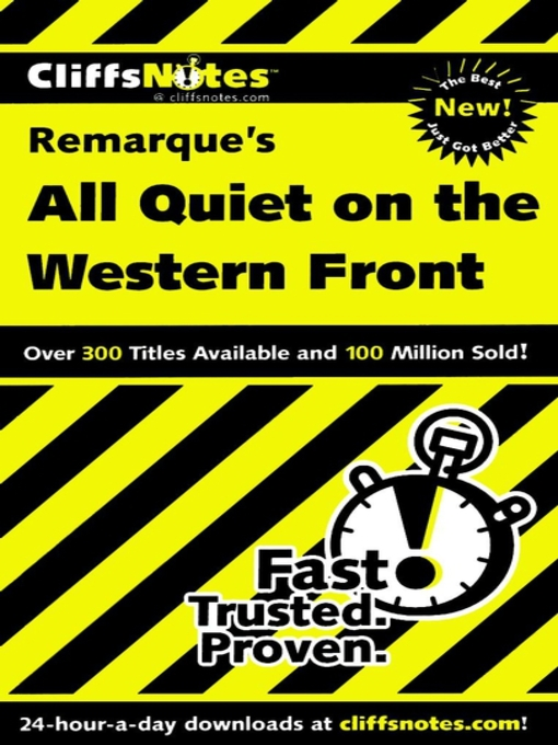 Title details for CliffsNotes on Remarque's All Quiet on the Western Front by Susan Van Kirk - Available