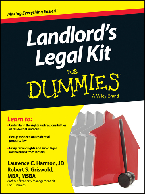 Title details for Landlord's Legal Kit For Dummies by Robert S. Griswold - Wait list