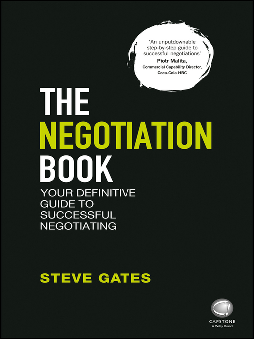 Title details for The Negotiation Book by Steve Gates - Available