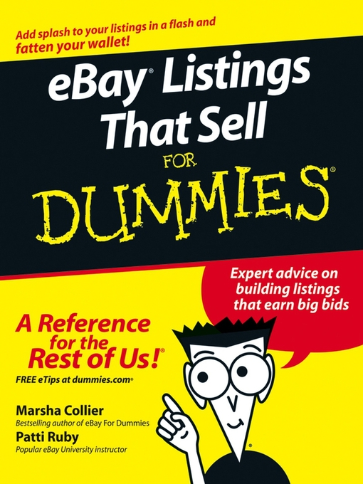 Title details for eBay Listings That Sell For Dummies by Marsha Collier - Available