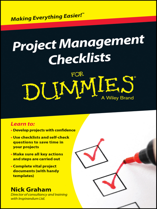 Title details for Project Management Checklists For Dummies by Nick Graham - Available