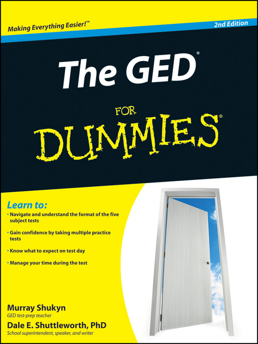 Title details for The GED For Dummies by Murray Shukyn - Available