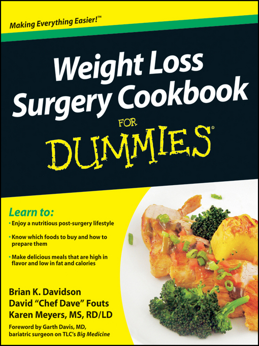 title details for weight loss surgery cookbook for dummies by brian k davidson available