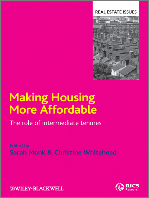 Title details for Making Housing more Affordable by Sarah Monk - Available