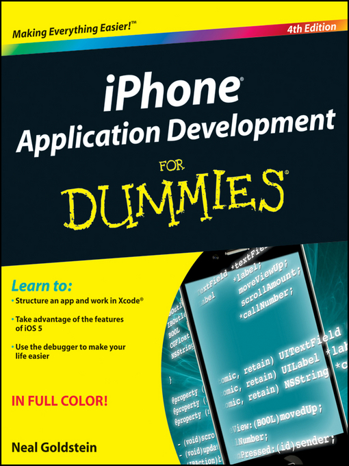 Title details for iPhone Application Development For Dummies by Neal Goldstein - Available