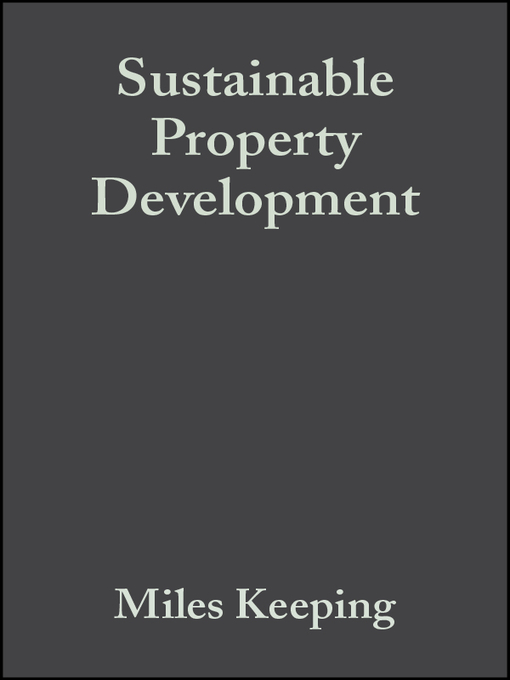 Title details for Sustainable Property Development by Miles Keeping - Available