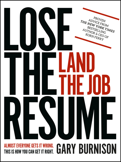 Cover of Lose the Resume, Land the Job