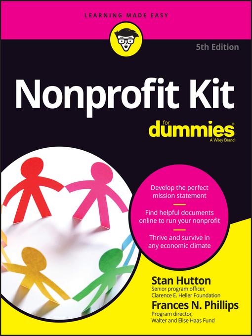 Title details for Nonprofit Kit for Dummies by Stan Hutton - Wait list