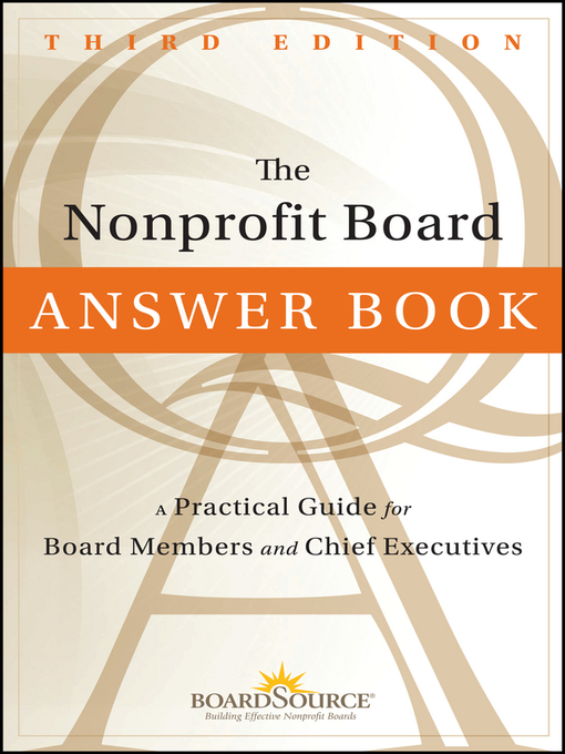 Title details for The Nonprofit Board Answer Book by Boardsource - Wait list