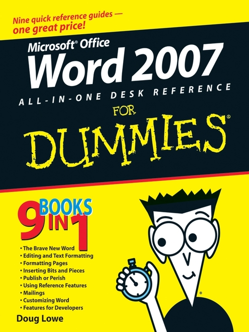 Title details for Word 2007 All-in-One Desk Reference For Dummies by Doug Lowe - Available