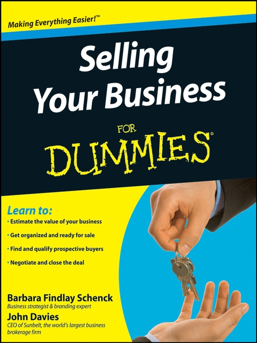 Title details for Selling Your Business For Dummies® by Barbara Findlay Schenck - Available
