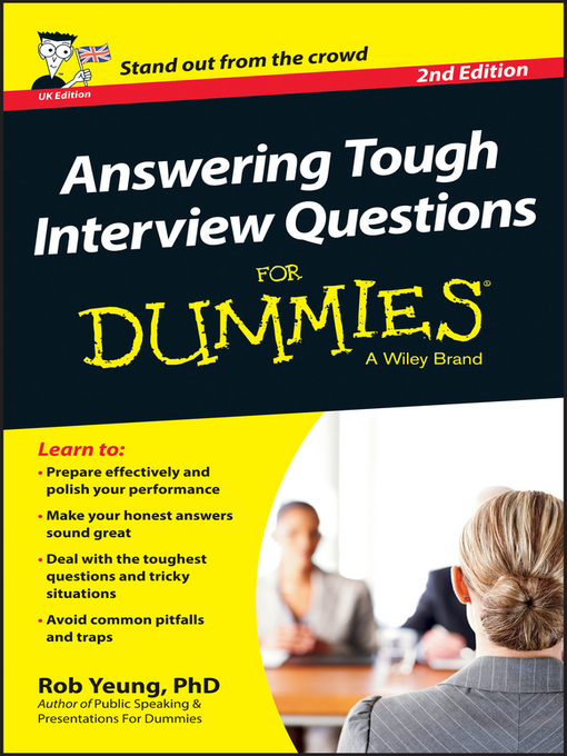 title details for answering tough interview questions for dummies by rob yeung wait list - Librarian Interview Questions For Librarians With Answers