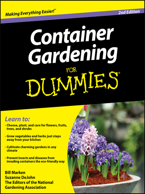 Title details for Container Gardening For Dummies by Bill Marken - Available