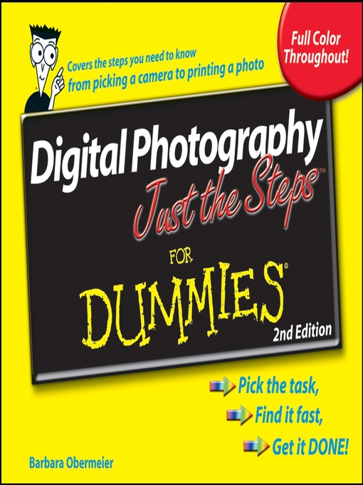 Cover of Digital Photography Just the Steps for Dummies