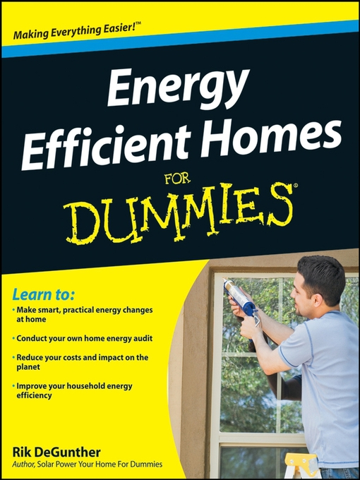 Cover of Energy Efficient Homes For Dummies®