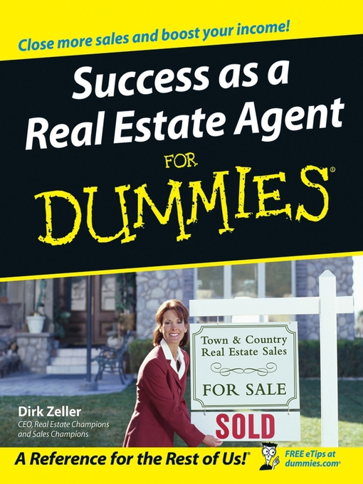Cover of Success as a Real Estate Agent For Dummies