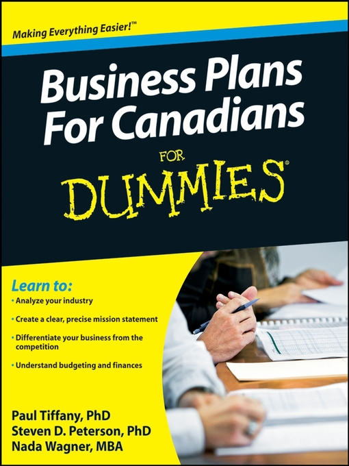 Business plans for canadians for dummies toronto public for Reading blueprints for dummies