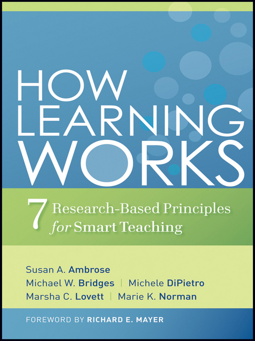 Title details for How Learning Works by Susan A. Ambrose - Available