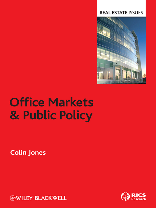 Title details for Office Markets and Public Policy by Colin Jones - Available