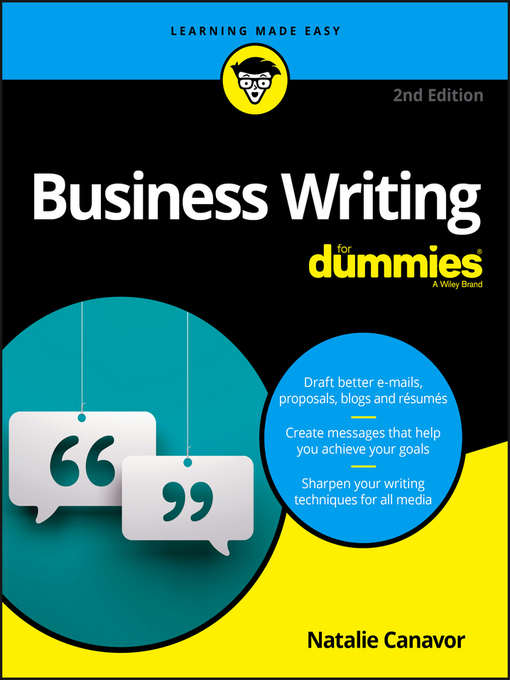 Title details for Business Writing For Dummies by Natalie Canavor - Available