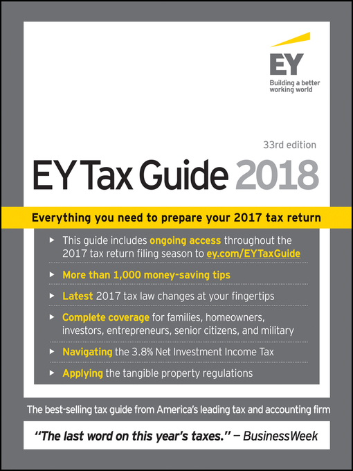 Title details for Ernst & Young Tax Guide 2018 by Ernst & Young LLP - Available