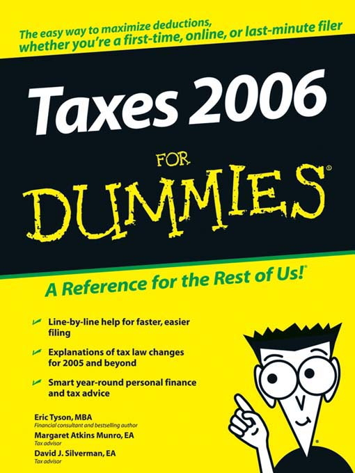 Title details for Taxes 2006 For Dummies by Eric Tyson - Wait list