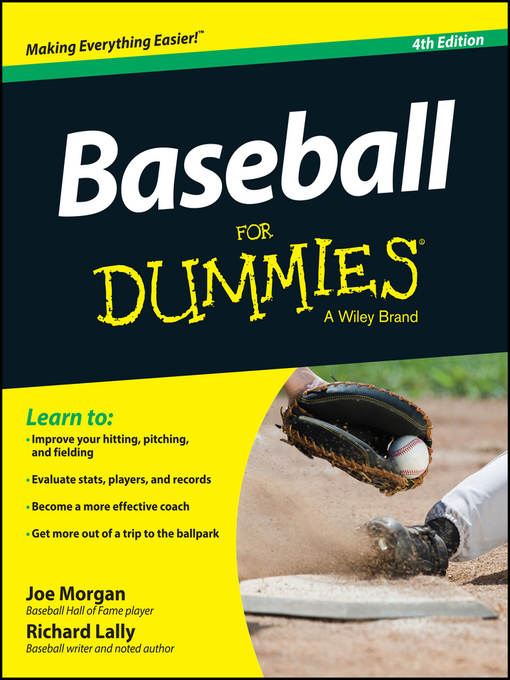 Title details for Baseball For Dummies by Joe Morgan - Wait list