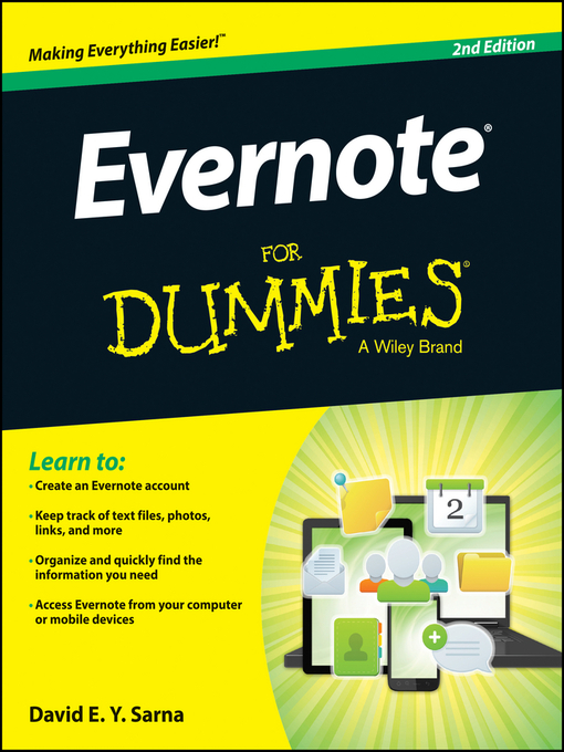 Title details for Evernote For Dummies by David E. Y. Sarna - Wait list