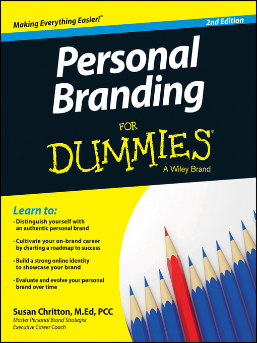 Title details for Personal Branding For Dummies by Susan Chritton - Wait list