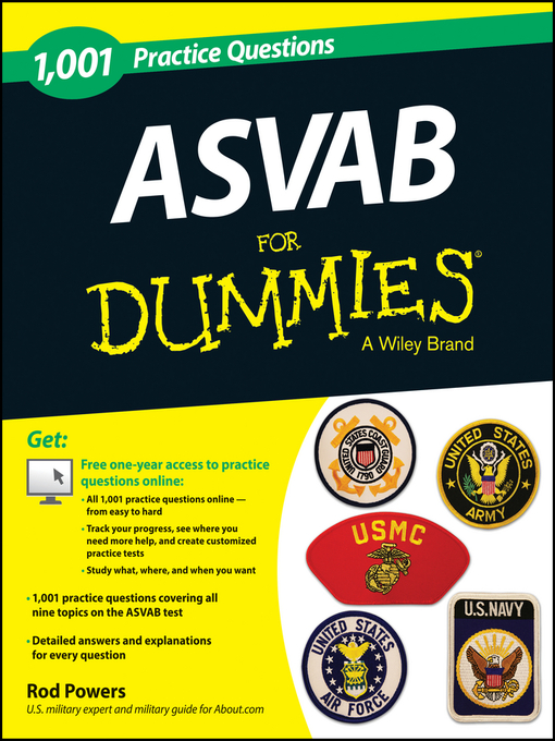 Title details for 1,001 ASVAB Practice Questions For Dummies (+ Free Online Practice) by Rod Powers - Available