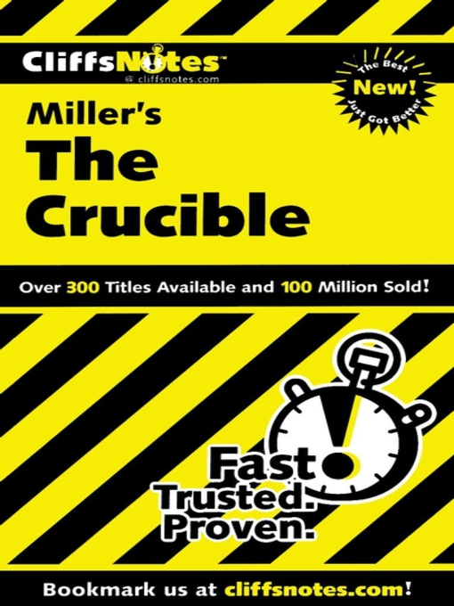 Title details for CliffsNotes on Miller's The Crucible by Jennifer L. Scheidt - Available