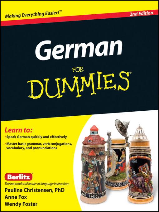 Title details for German For Dummies by Paulina Christensen - Wait list