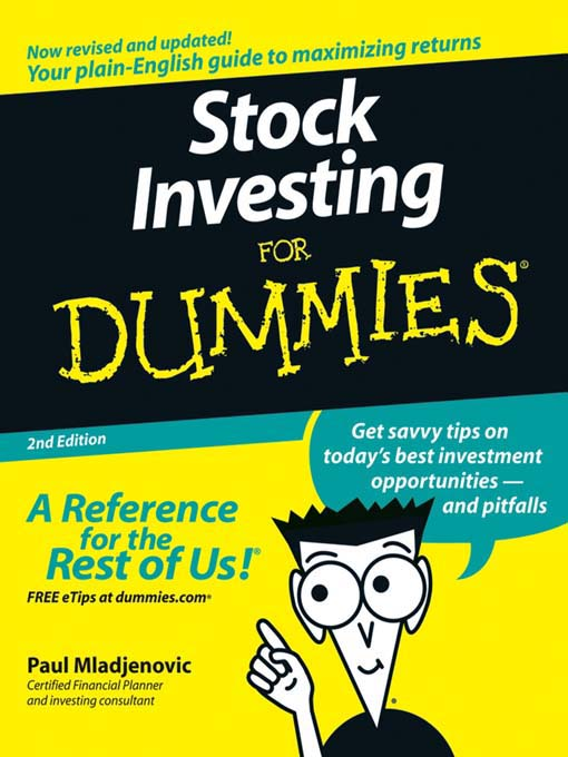 Title details for Stock Investing For Dummies by Paul Mladjenovic - Available