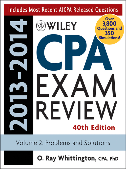 Cover of Wiley CPA Examination Review 2013-2014, Problems and Solutions