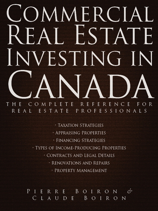 Title details for Commercial Real Estate Investing in Canada by Pierre Boiron - Available