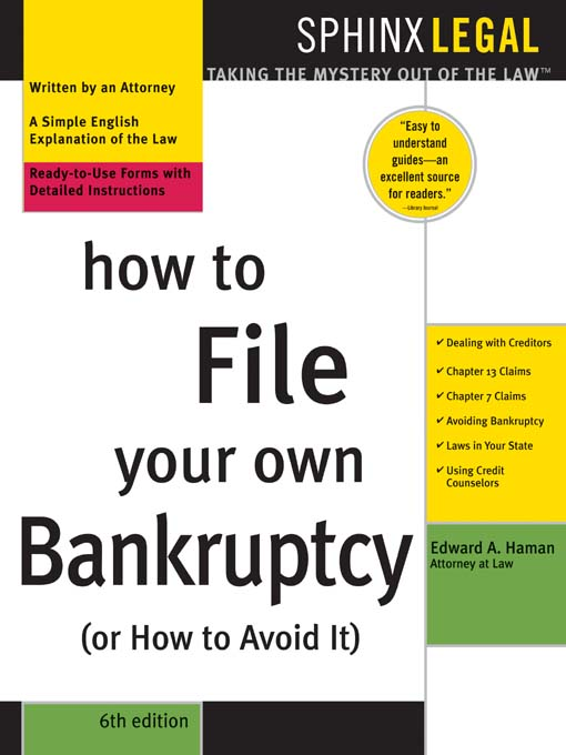 Title details for How to File Your Own Bankruptcy (or How to Avoid It), 6e by Edward  A. Haman - Available