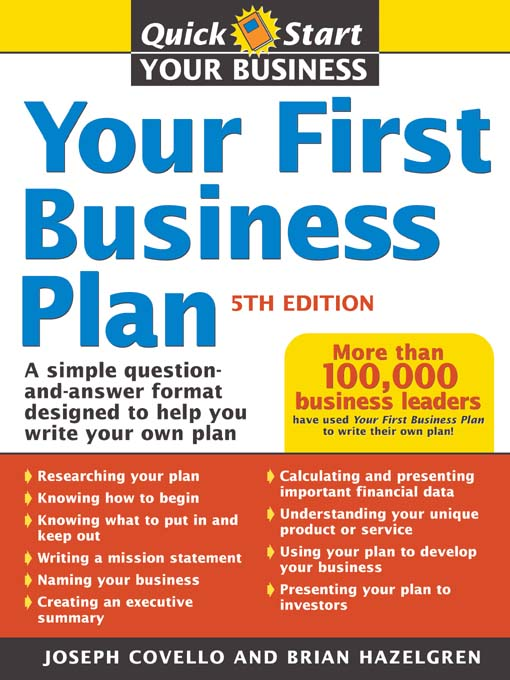 Title details for Your First Business Plan by Brian J Hazelgren - Available