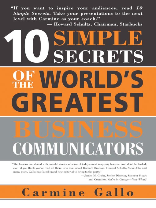 Title details for 10 Simple Secrets of the World's Greatest Business Communicators by Carmine Gallo - Wait list